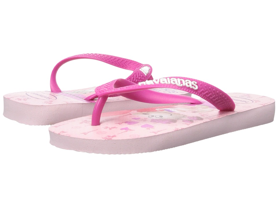Havaianas Kids - Snoopy Flip Flop (Toddler/Little Kid/Big Kid) (Crystal Rose) Girls Shoes