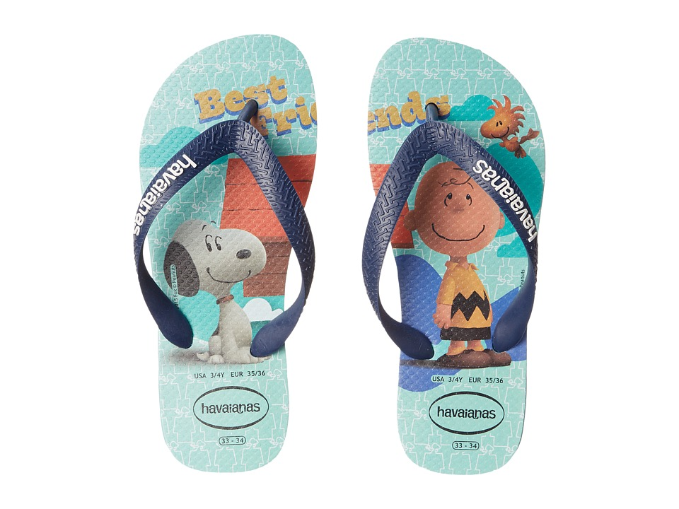 Havaianas Kids - Snoopy Flip Flop (Toddler/Little Kid/Big Kid) (Ice Blue) Boys Shoes