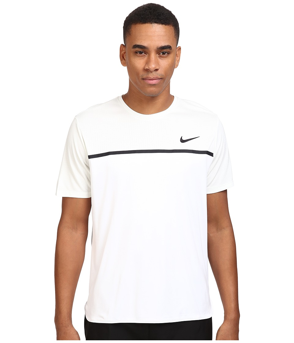 Nike - Challenger Crew (Summit White/White/White/Black) Men's T Shirt