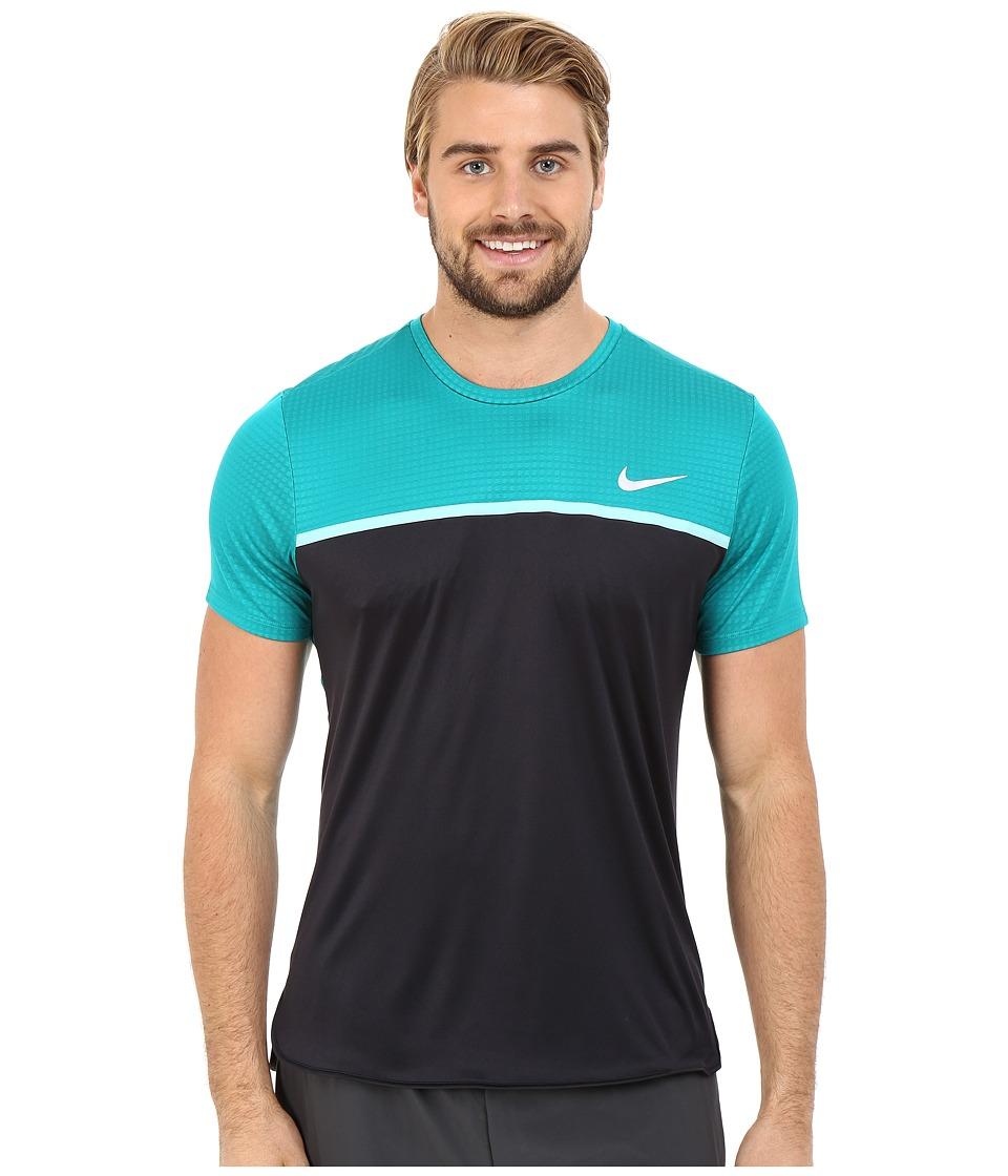 Nike - Challenger Crew (White/Black/Black/White) Men's T Shirt