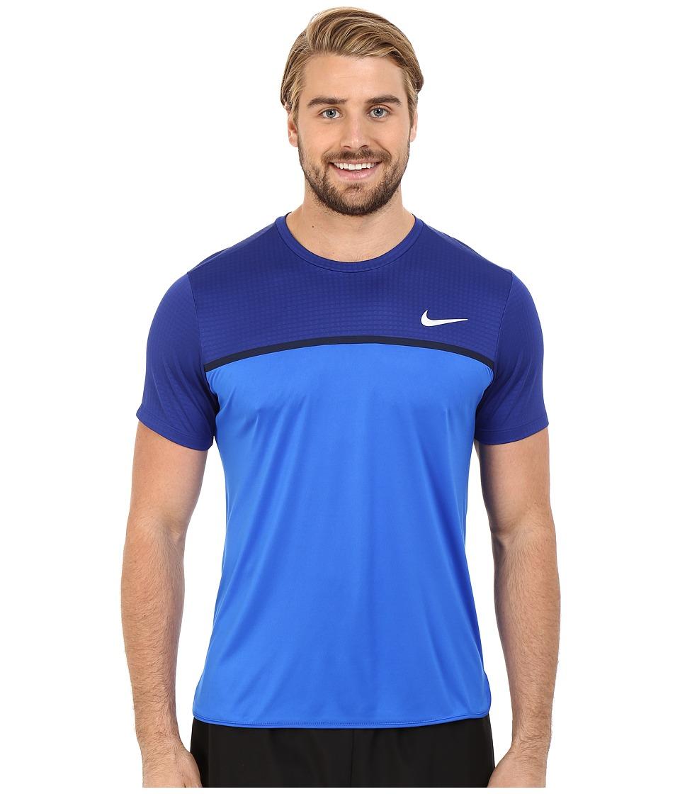 Nike - Challenger Crew (Deep Royal Blue/Hyper Cobalt/Hyper Cobalt/White) Men's T Shirt