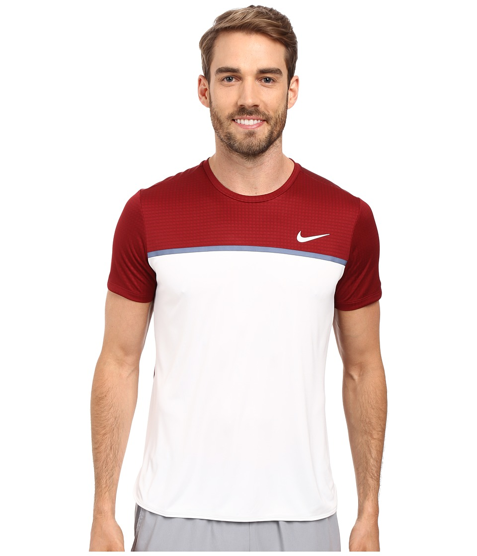 Nike - Challenger Crew (Team Red/White/White/White) Men's T Shirt