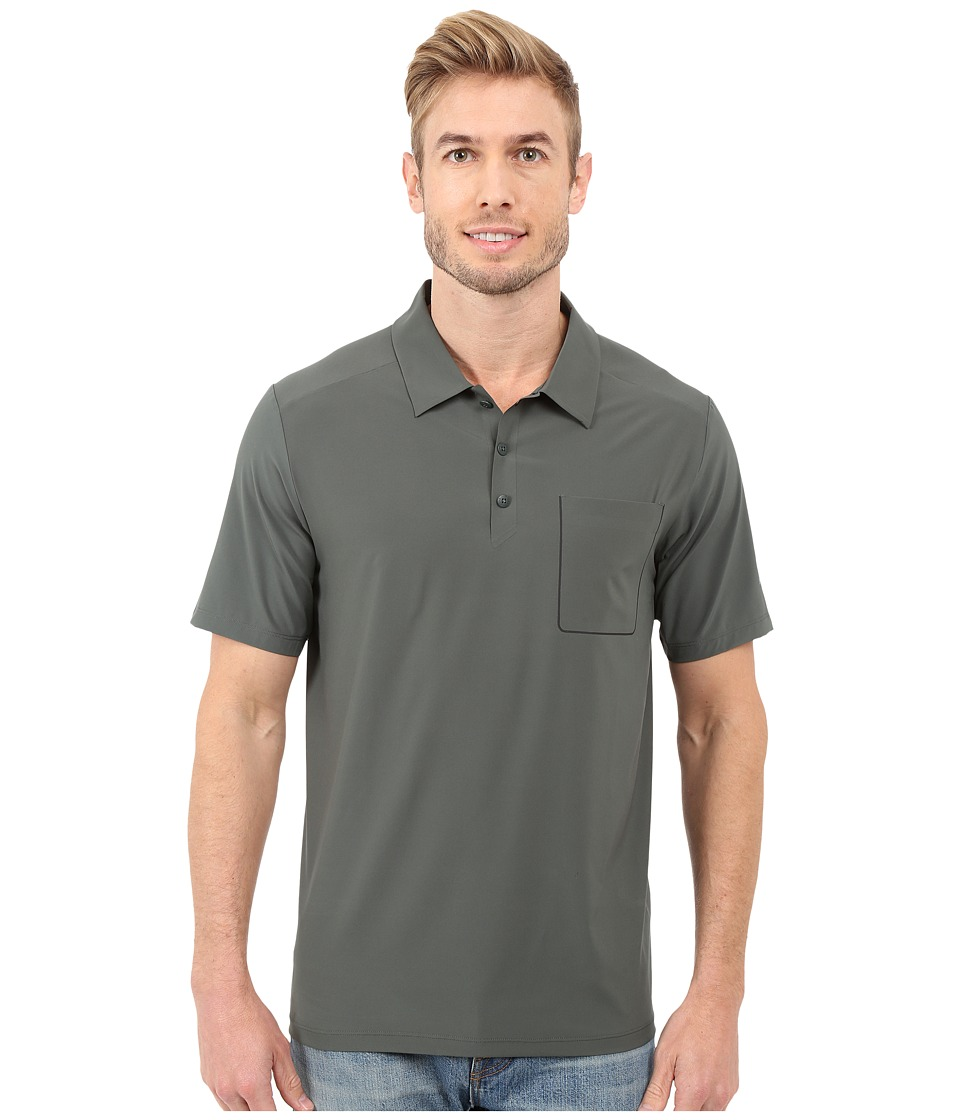 The North Face - Short Sleeve Ignition Polo (Spruce Green) Men's Short Sleeve Knit