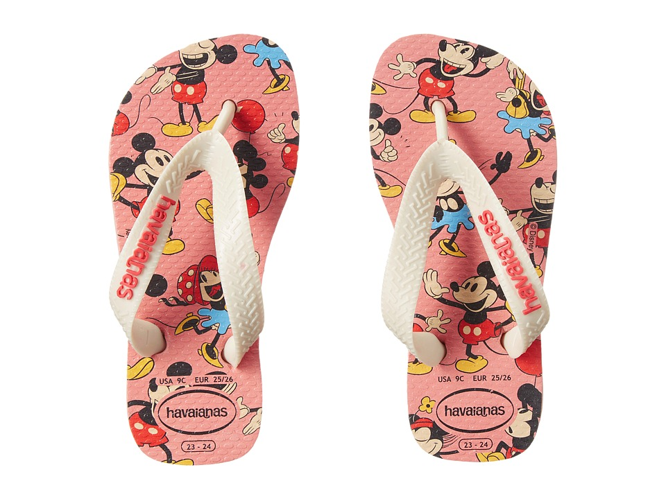 Havaianas Kids - Disney Stylish (Toddler/Little Kid/Big Kid) (Light Pink) Girls Shoes