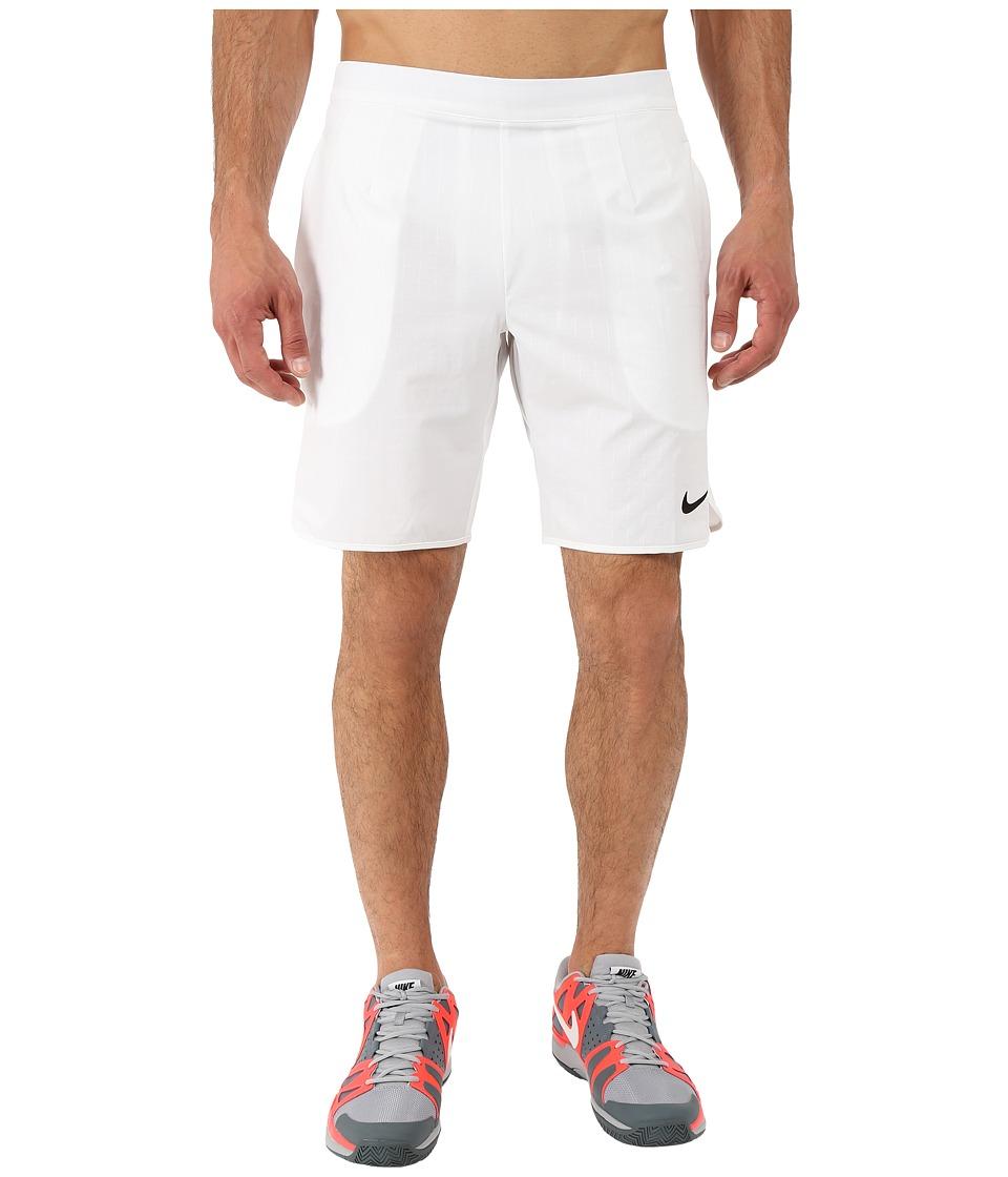 Nike - Gladiator Premium 9 Shorts (White/Black) Men's Shorts