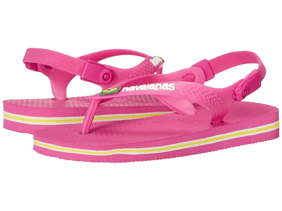 Havaianas Kids - Baby Brasil Logo (Toddler) (Orchid Rose) Girl's Shoes