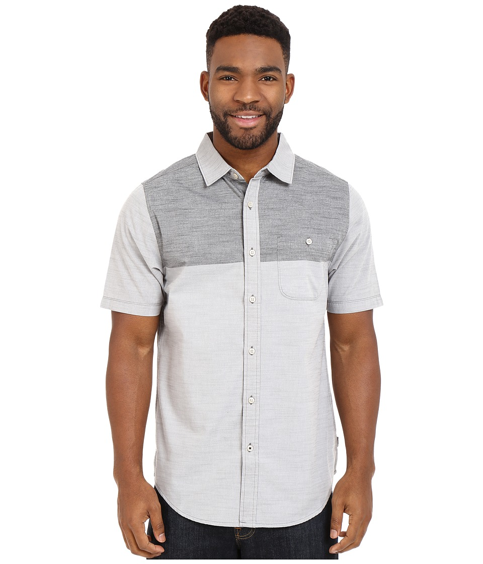 The North Face - Short Sleeve Block Me Shirt (Zinc Grey/TNF Black) Men's Short Sleeve Button Up