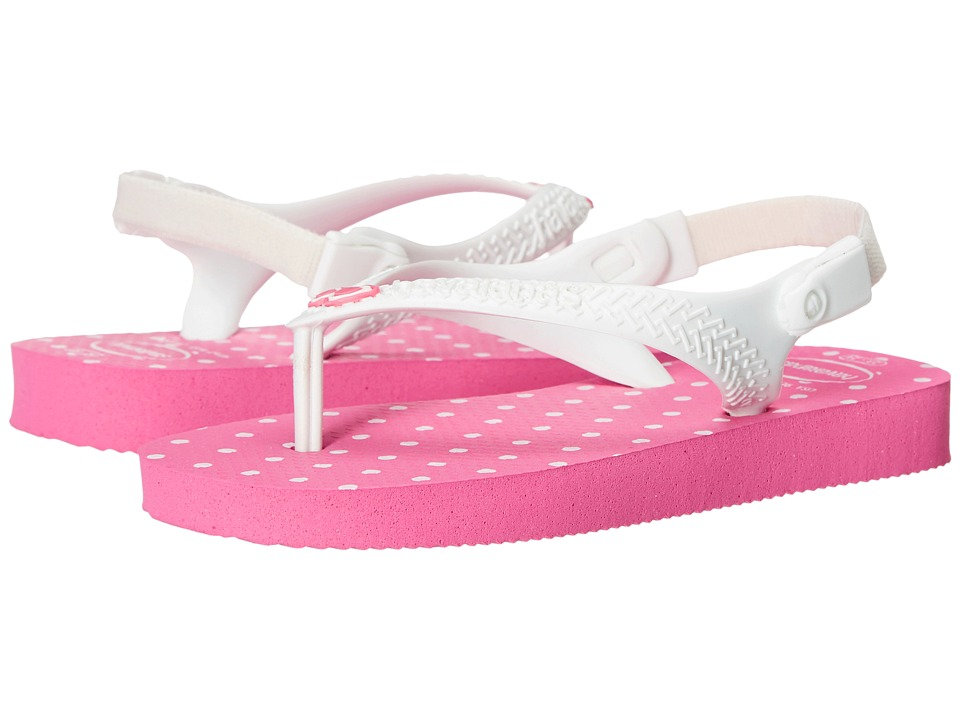 Havaianas Kids - Chic (Toddler) (Shocking Pink/White) Girls Shoes