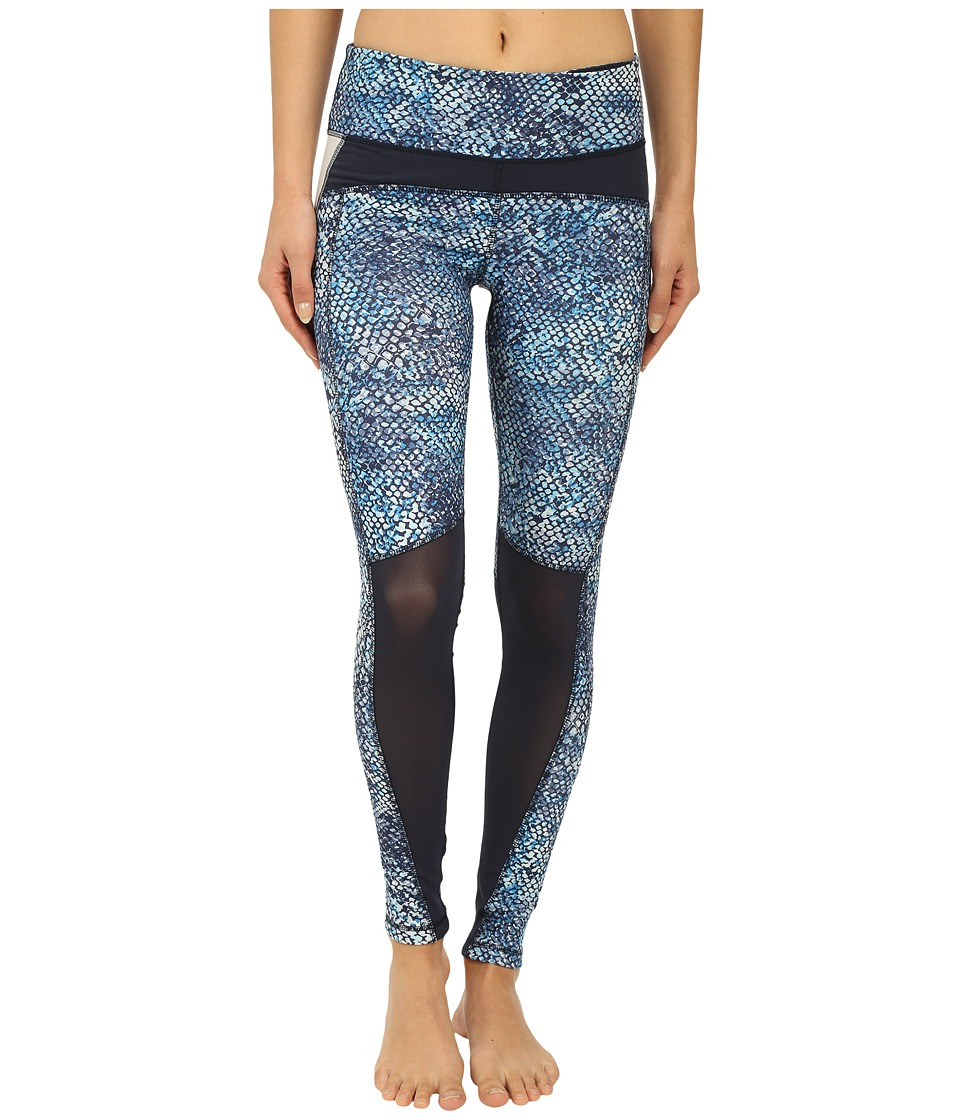 Zobha - Fitted Leggings w/ Contrast Blocking (Diva Blue) Women's Casual Pants