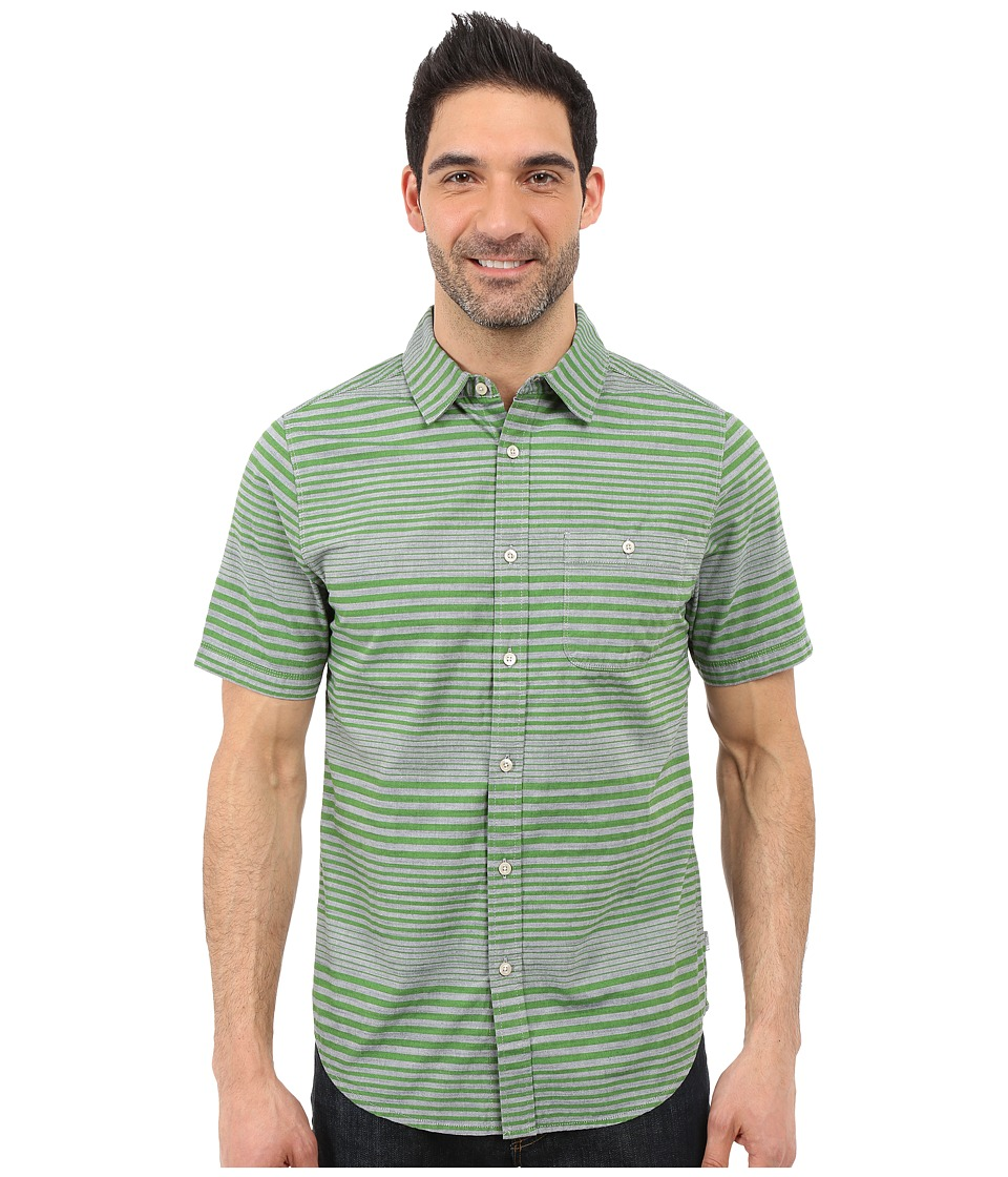 The North Face - Short Sleeve Engine Stripe Shirt (Vibrant Green) Men's Short Sleeve Button Up