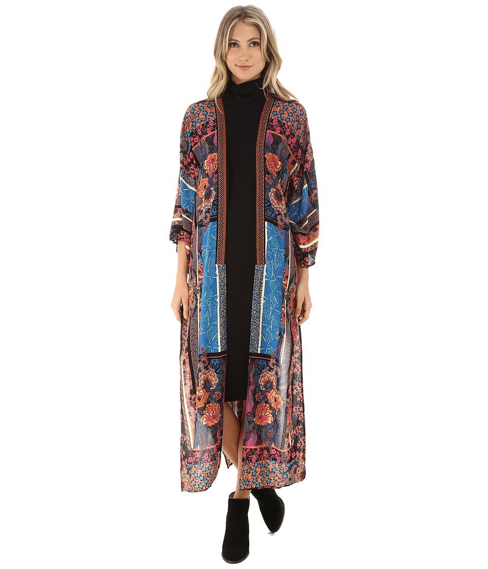 Brigitte Bailey - Isadora High-Low Floral Kimono (Multi) Women's Sweater