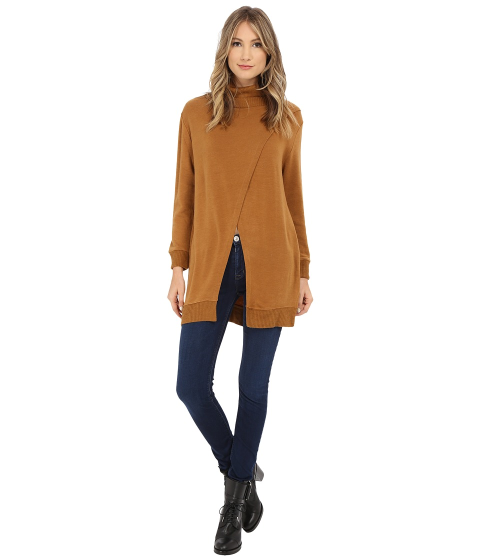 Brigitte Bailey - Jessamine Open Front Turtleneck Sweater (Camel) Women
