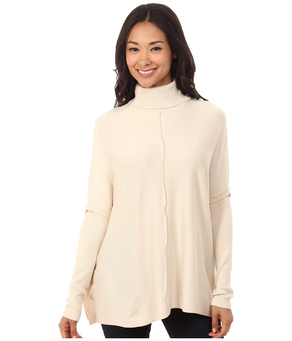 Brigitte Bailey - Amara Turtleneck Sweater w/ Stitch Detail (Tan) Women's Sweater