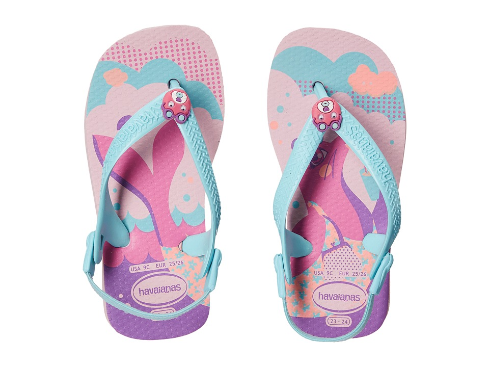 Havaianas Kids - Baby Pets (Toddler) (Pink/Ice Blue) Girl's Shoes