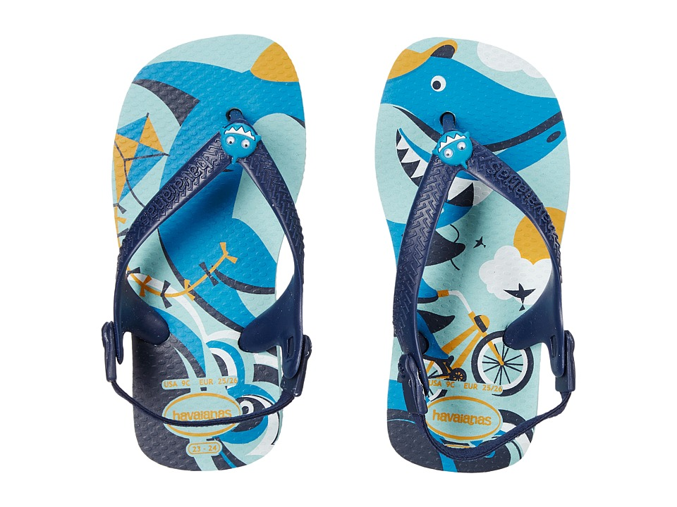 Havaianas Kids - Baby Pets (Toddler) (Ice Blue) Boy's Shoes