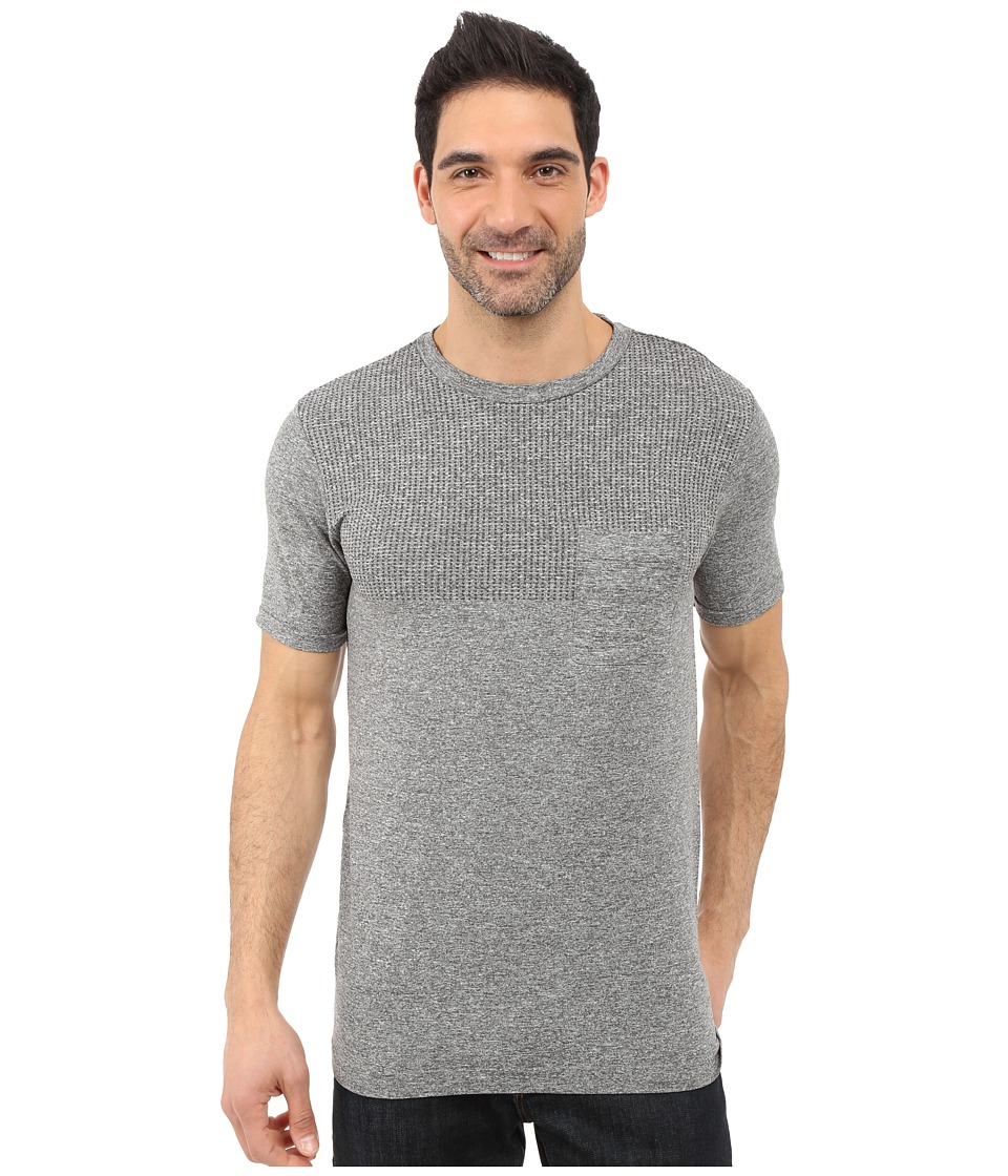 The North Face - Short Sleeve Engine Crew (Mid Grey Heather) Men's Short Sleeve Pullover