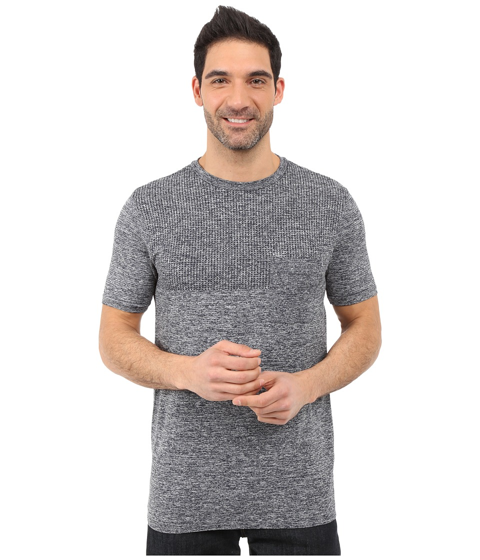 The North Face - Short Sleeve Engine Crew (Cosmic Blue Heather) Men's Short Sleeve Pullover