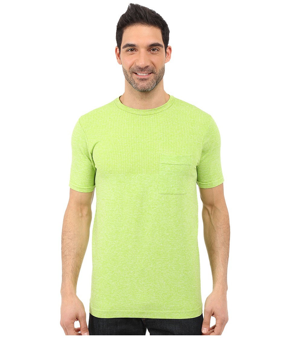 The North Face - Short Sleeve Engine Crew (Macaw Green Heather) Men's Short Sleeve Pullover