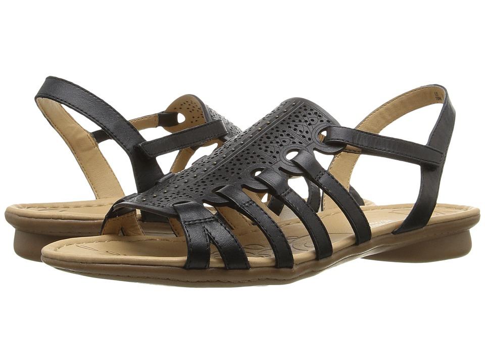 Naturalizer - Whisper (Black Leather) Women's Dress Sandals