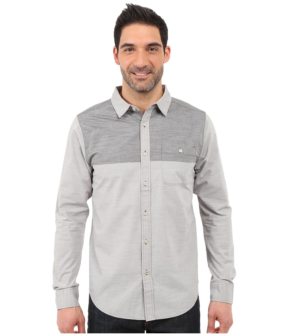 The North Face - Long Sleeve Block Me Shirt (Zinc Grey/TNF Black) Men's Long Sleeve Button Up