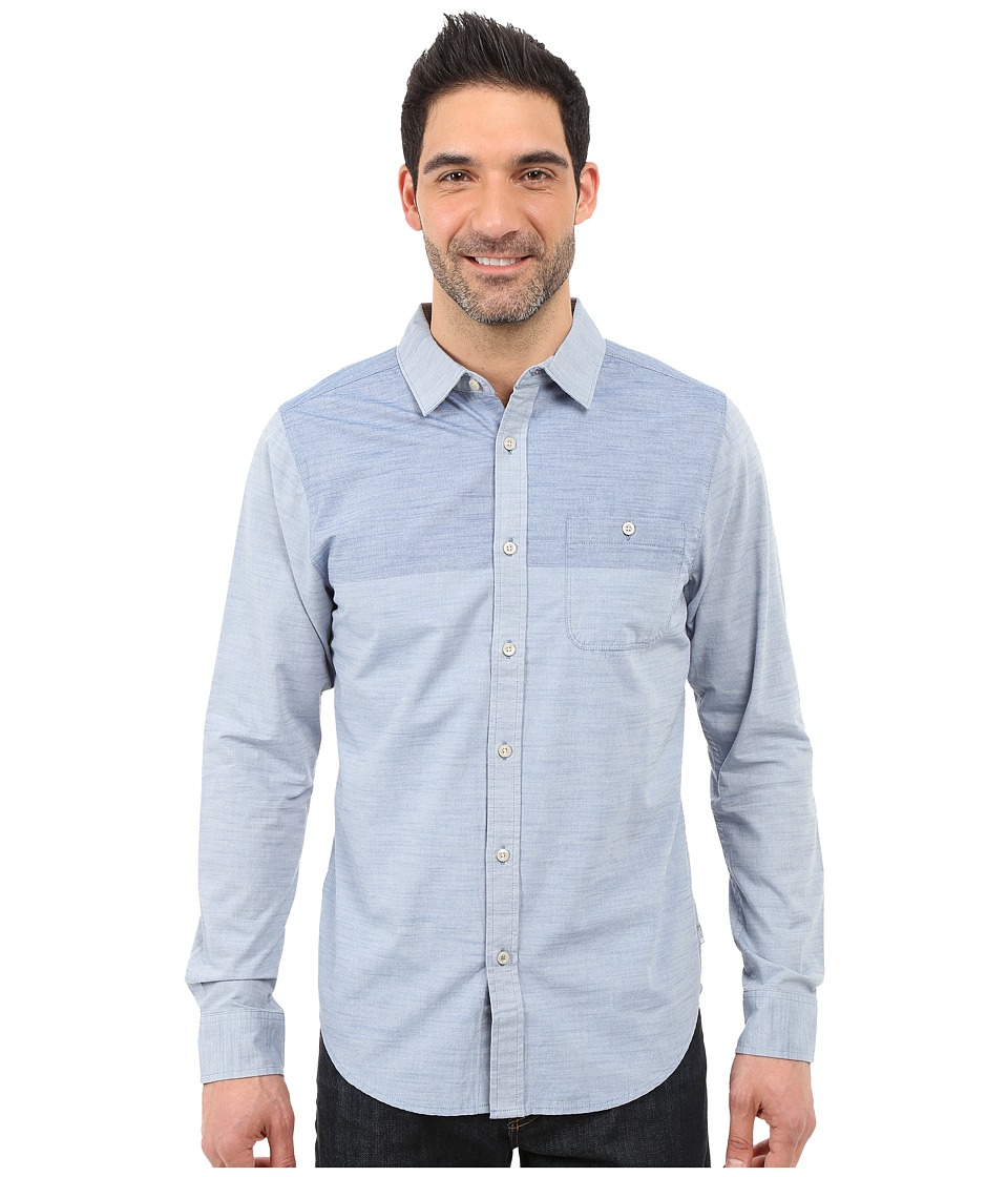 The North Face - Long Sleeve Block Me Shirt (Moonlight Blue/Cosmic Blue) Men's Long Sleeve Button Up