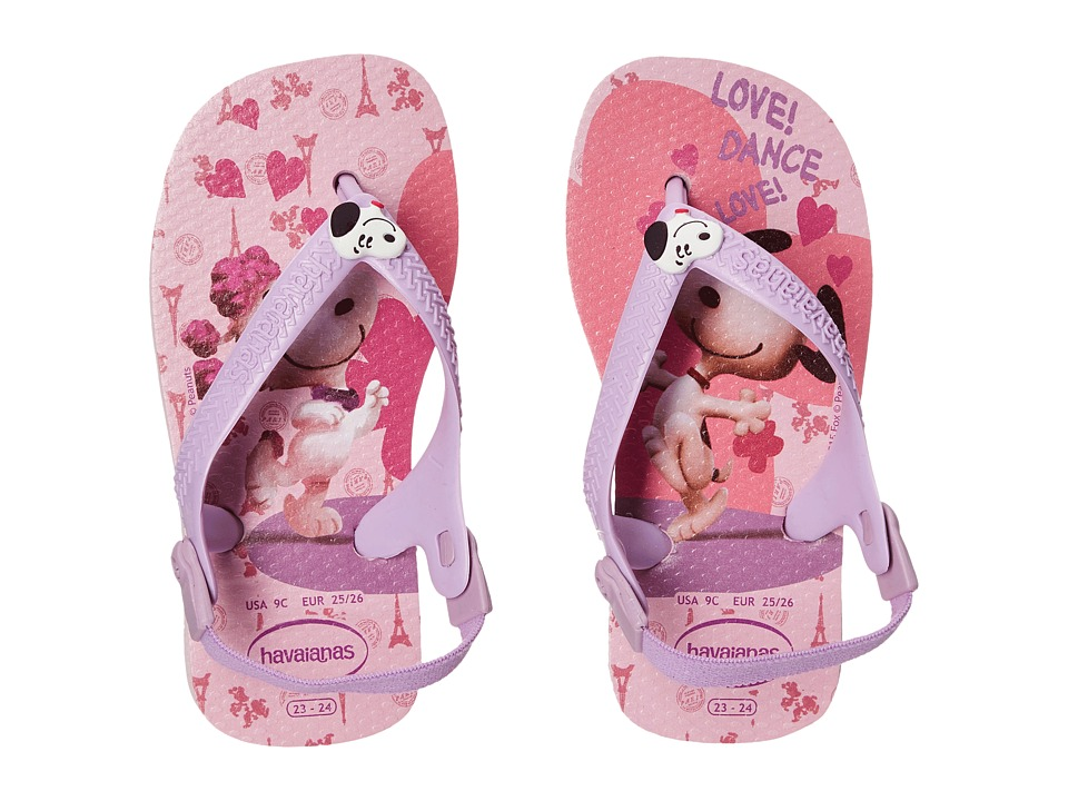 Havaianas Kids - Snoopy Flip Flop (Toddler) (Pink/Lilac) Girls Shoes