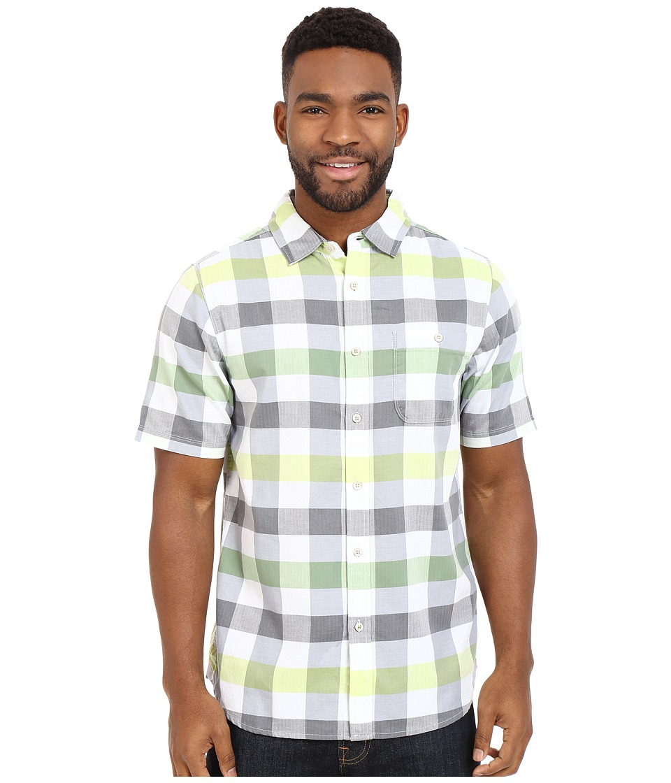 The North Face - Short Sleeve Send Train Shirt (Vibrant Green Plaid) Men's Short Sleeve Button Up