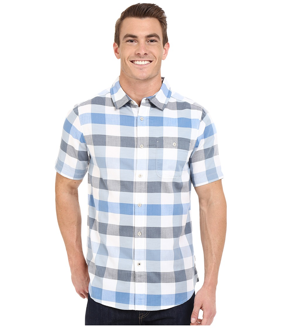The North Face - Short Sleeve Send Train Shirt (Bomber Blue Plaid) Men's Short Sleeve Button Up