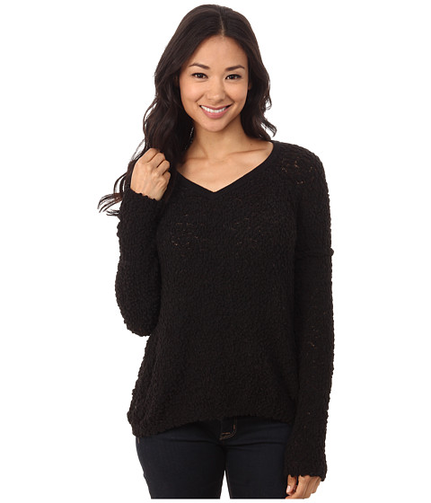 Brigitte Bailey - Alegra V-Neck Knit Sweater (Black) Women's Sweater