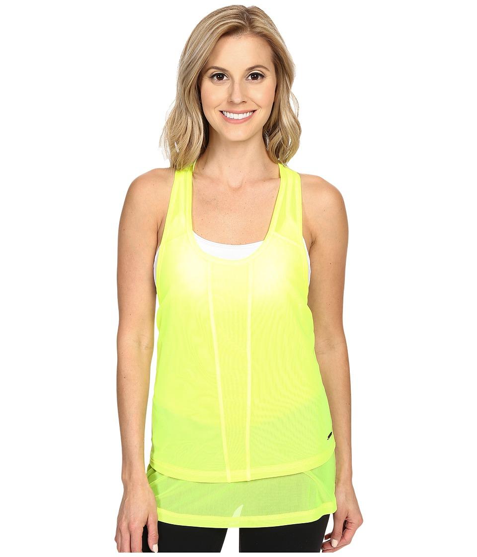 Zobha - Cody Mesh Racerback Singlet (Lemon Balm) Women's Workout