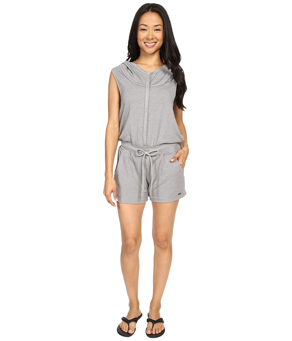 Zobha - Sleeveless Hoodie Jumper w/ Open Cross Back (Heather Grey) Women's Jumpsuit & Rompers One Piece