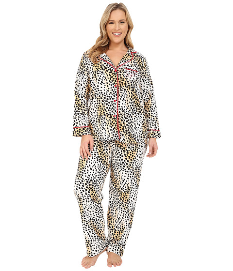 Betsey Johnson - Plus Size Animal Print Pajama Set (Dreamy Cheetah) Women's Pajama Sets
