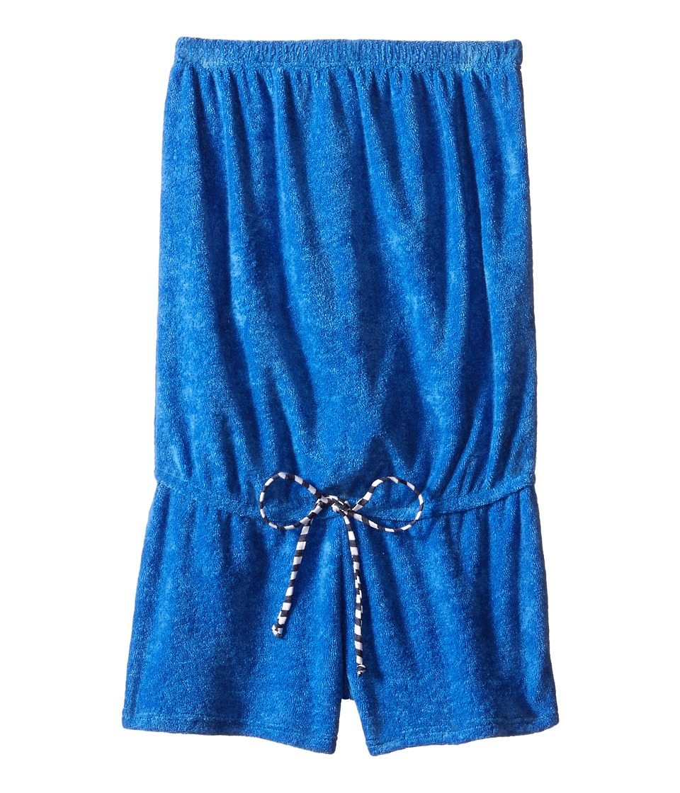 Splendid Littles - Midnight Stripe Terry Romper Cover-Up (Big Kids) (Navy) Girl's Swimsuits One Piece