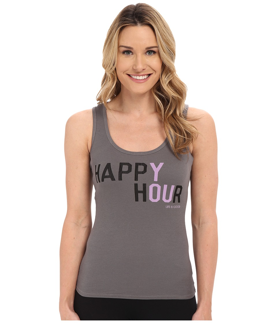Life is good - Happy Hour Sleep Tank Top (Slate Gray) Women's Sleeveless