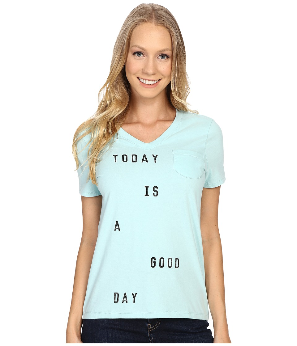 Life is Good - Today Is A Good Day Pocket Sleep Vee (Cool Mint) Women's Pajama