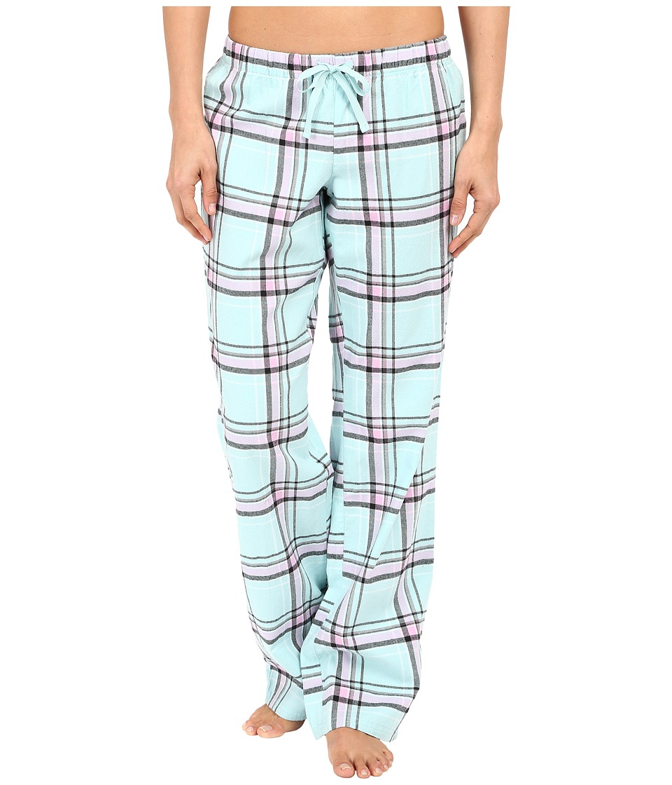 Life is good - Plaid Sleep Pants (Cool Mint Plaid) Women's Pajama