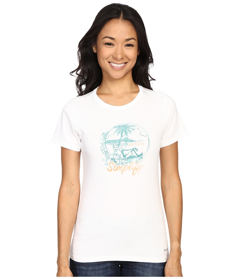 Life is good - Life Is Good Beach Crusher Tee (Cloud White) Women's T Shirt