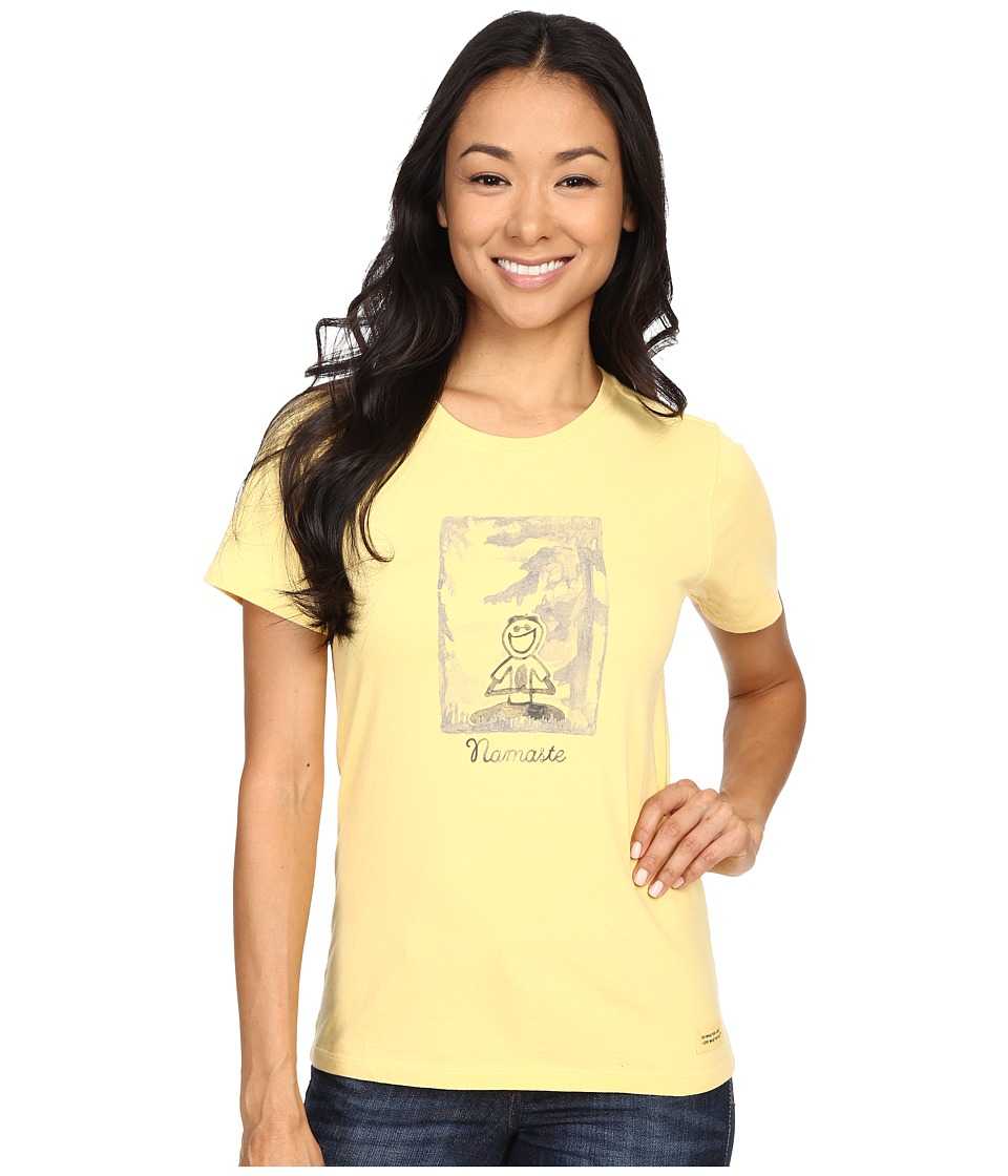 Life is good - Namaste Crusher Tee (Sunny Yellow) Women's T Shirt