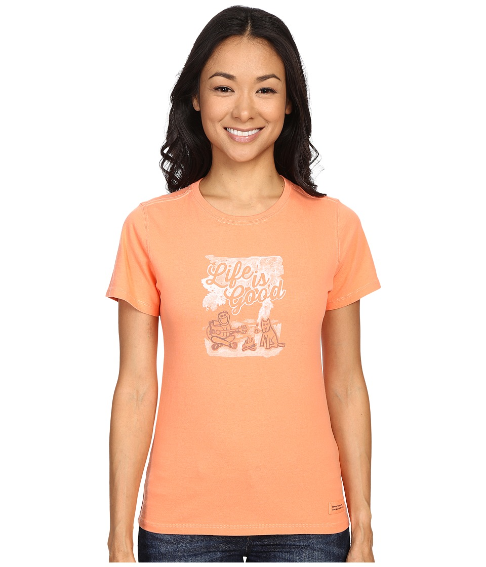 Life is good - Life Is Good Campfire Crusher Tee (Fresh Peach) Women's T Shirt