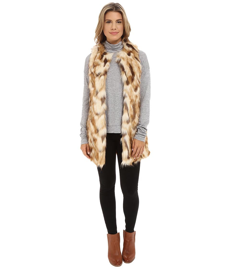 Brigitte Bailey - Ada Long Faux Fur Vest (Brown) Women