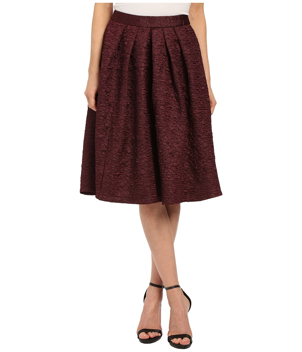 Brigitte Bailey - Norma Textured Midi Skirt (Wine) Women's Skirt
