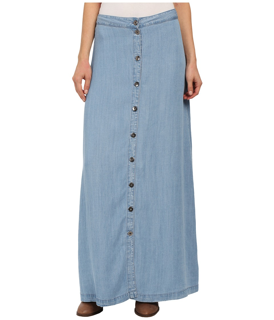 Brigitte Bailey - Margo Button Front Maxi Skirt (Jean) Women's Skirt