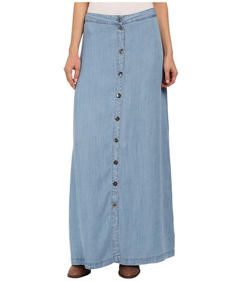 Brigitte Bailey - Margo Button Front Maxi Skirt (Jean) Women's Skirt