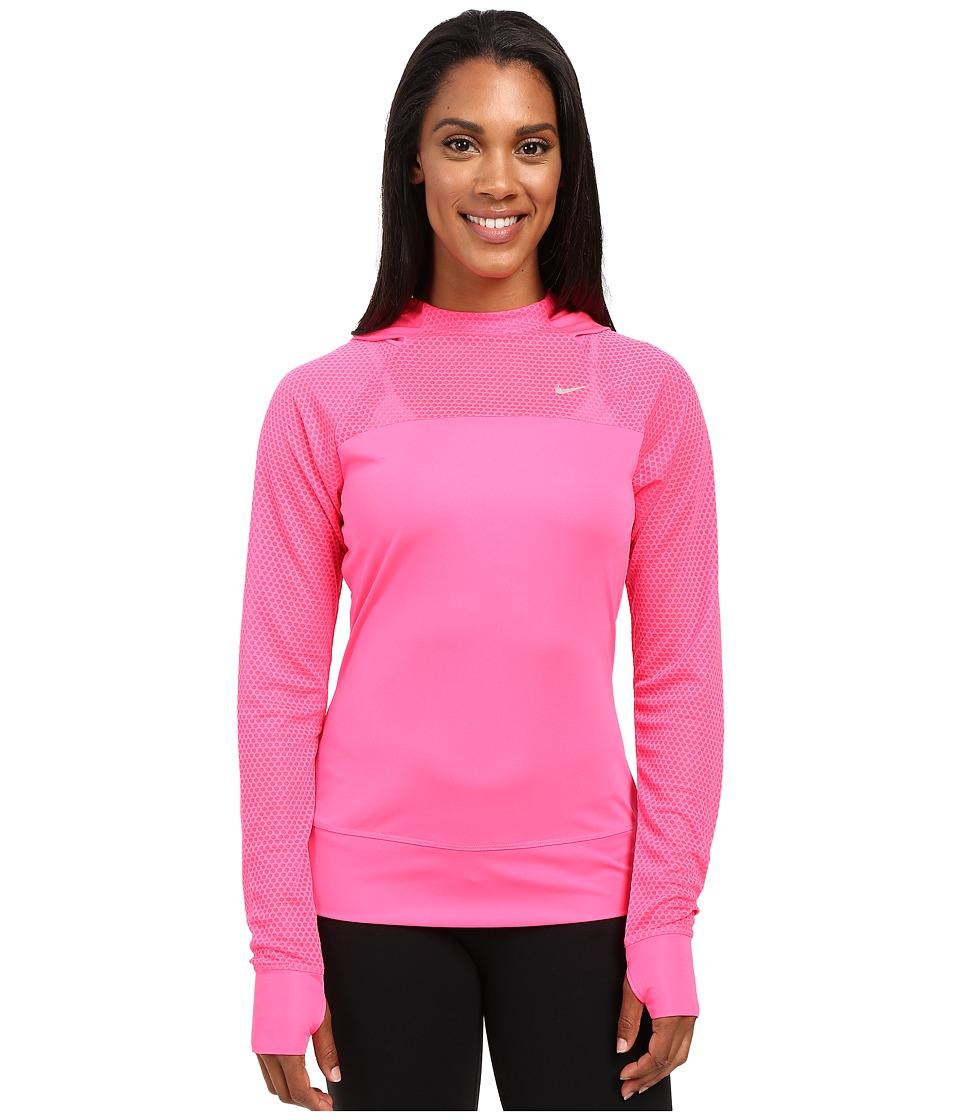 Nike - Run Fast Hoodie (Hyper PInk/Reflective Silver) Women's Sweatshirt