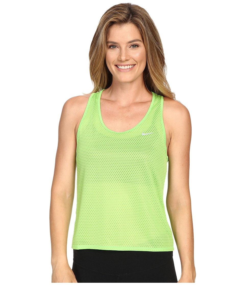 Nike - Run Fast Tank Top (Action Green/Reflective Silver) Women's Sleeveless