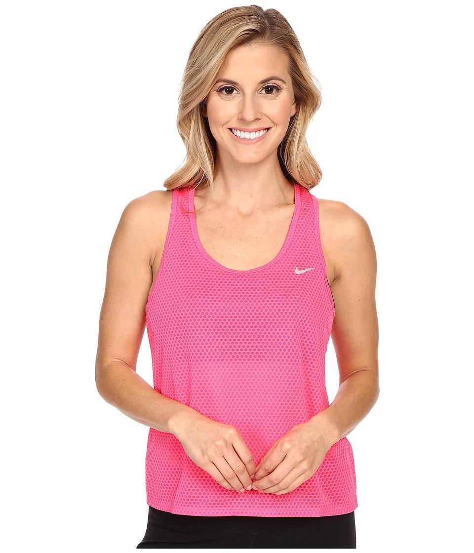 Nike - Run Fast Tank Top (Hyper PInk/Reflective Silver) Women's Sleeveless