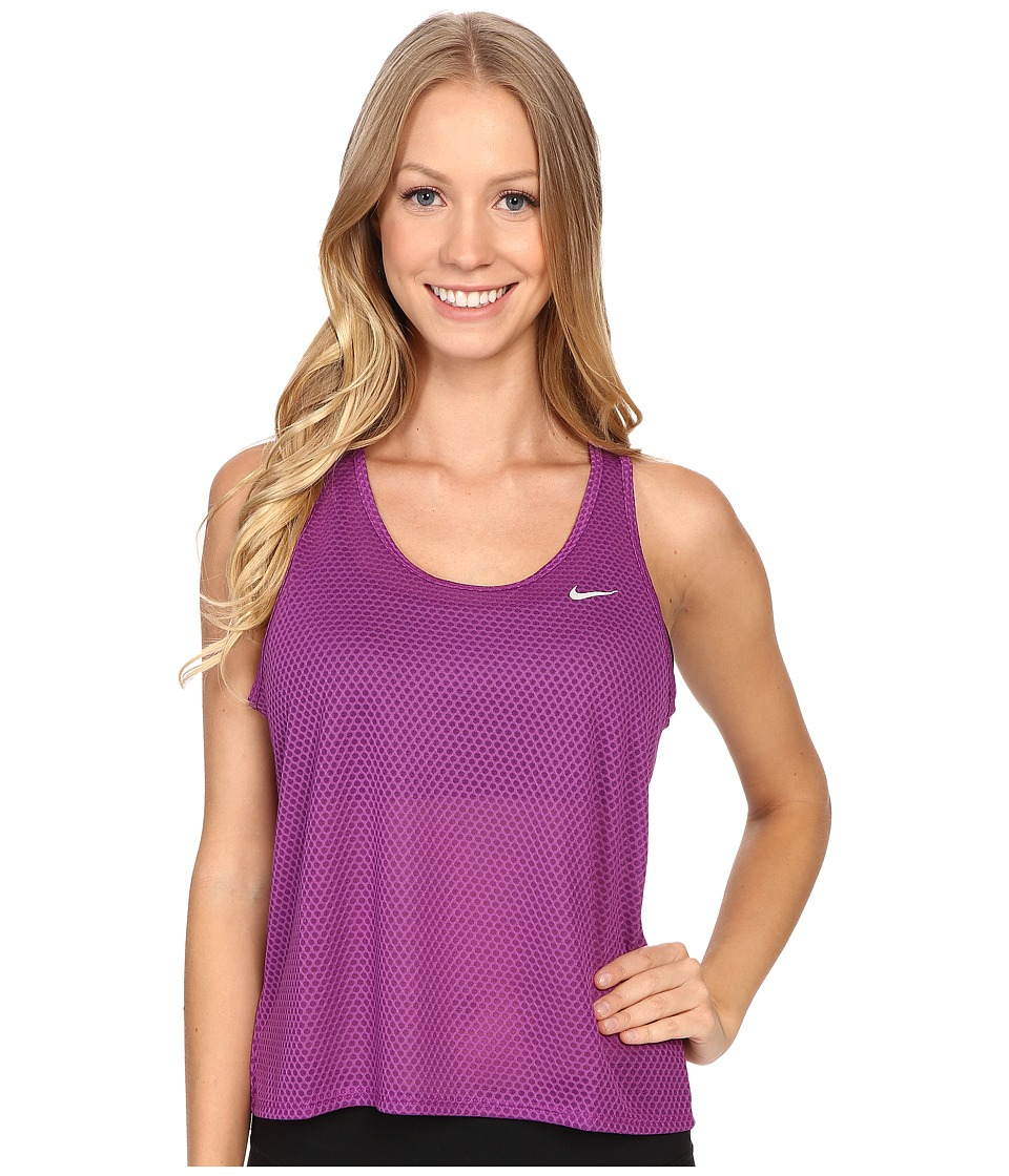 Nike - Run Fast Tank Top (Cosmic Purple/Reflective Silver) Women's Sleeveless