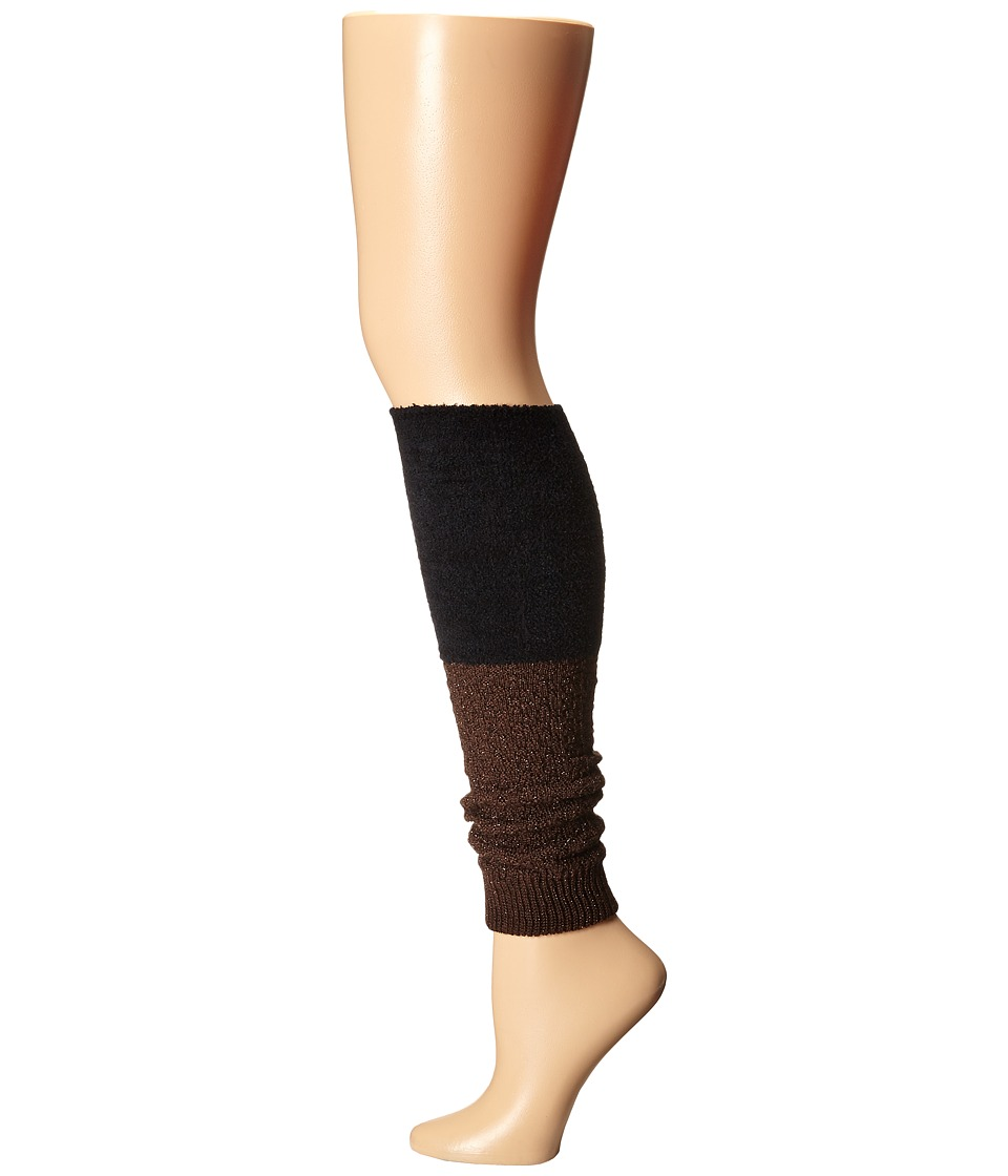 Steve Madden - Slouch Marl Leg Warmer (Chocolate/Black) Women's Knee High Socks Shoes