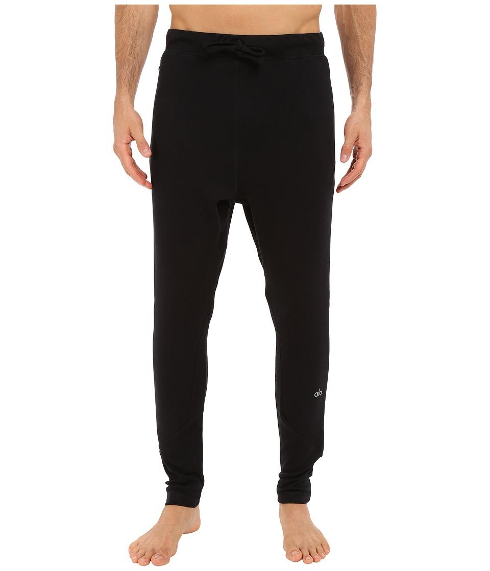 ALO - Relaxed Sweatpants (Black Tri-Blend Fleece) Men's Casual Pants