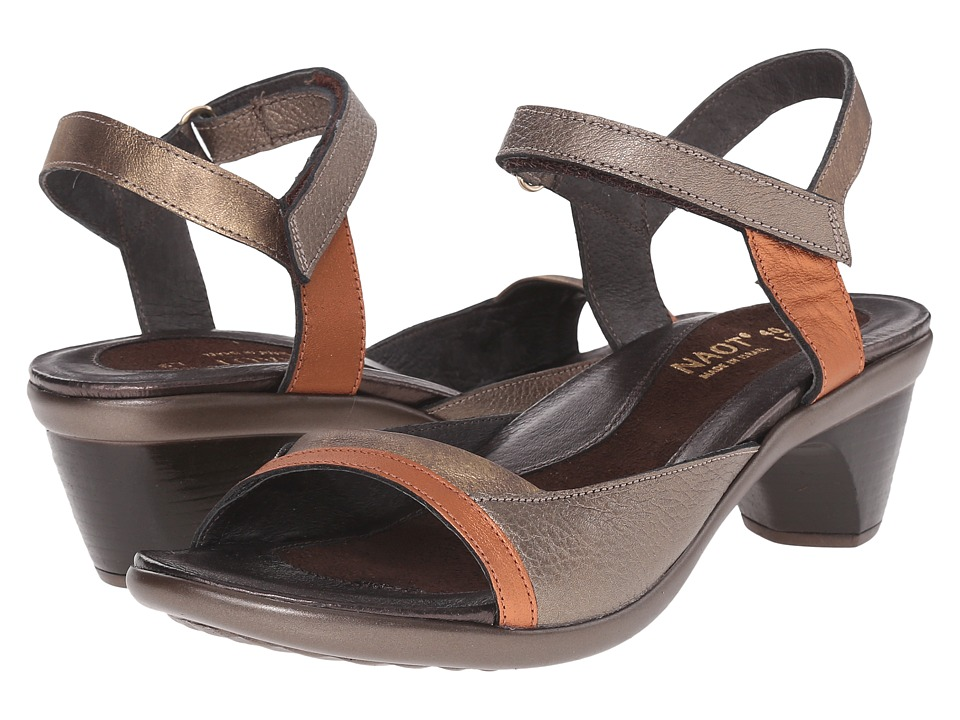 Naot Footwear Midnight (Platinum/Copper/Madarin Leather Combo) Women
